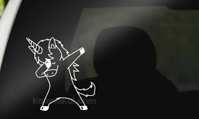 Unicorn Dabbing Decal Sold By Kalanakai Custom Designs On Storenvy