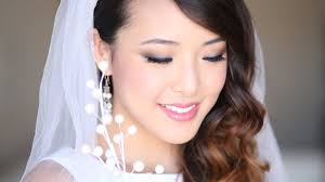 luxury bridal makeup for an asian bride