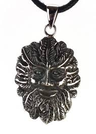 sterling silver green man pendant