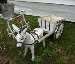 donkey cart yard decor with images
