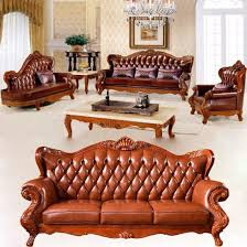 leather sofa furniture with wood coffee