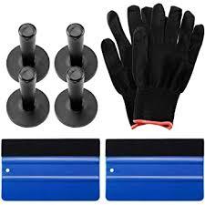 Amazon Com Ezautowrap Professional Vinyl Wrap Tool Kit Window Tint Film Application Decal Sticker Premium Quality Blue Felt Squeegees Wrapping Glove Magnets Tk02 Automotive
