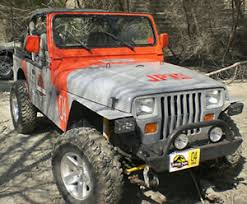 Jurassic Park Jeep Hood And Side Number Decals Only Ebay