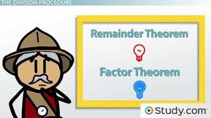 remainder theorem factor theorem