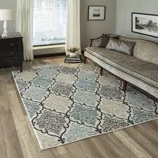 kinsley teal black beige area rug