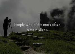 quotes on silence to know its power succedict