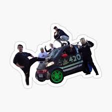 Misfits Car Sticker By Marvelfanart Redbubble