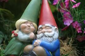 miniature garden gnome couple gnomes in