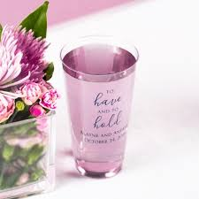 personalized clear plastic cups beau coup
