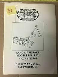 howse landscape rake models r48 r60 r72