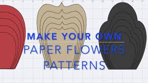 paper flowers pattern in design e