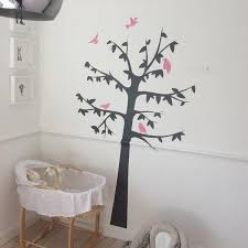 Grey Tree Kids Wall Decal White Tree Wall Decal Pink Grey Children Nursery Removable Vinyl Wall Decals Kids Wall Decals Tree Wall Stickers
