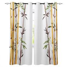 2020 Yellow Arrow Bamboo Plant Art Room Curtains Large Window Living Room Bedroom Drapes Decor Kids Window Treatment Party Decoration From Livesti 31 25 Dhgate Com
