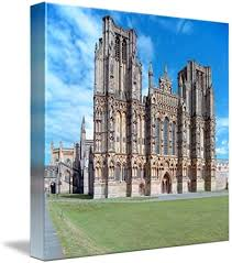 Wall Art Print entitled Wells Cathedral, West Front by Priscilla Turner |  24 x 24: Amazon.ca: Home & Kitchen