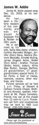 Obituary for James W. Addie - Newspapers.com