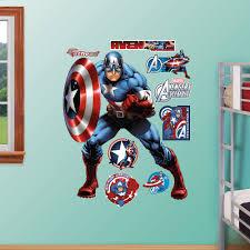 Fathead Realbig Marvel Avengers Assemble Captain America Wall Decal Wayfair