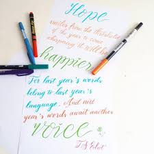 learn how to make brush pen hand lettering spring theme