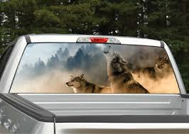 Wolf Scene 2 Wolves Howling Rear Window Decal Graphic For Truck Suv Ebay