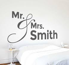 Personalised Mr Mrs Wall Decal Tenstickers