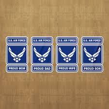 U S Air Force Proud Vinyl Decal Sticker Military Car Laptop Dad Mom Son Wife Ebay