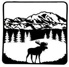 Amazon Com Moose Mountain Tree Scene Decal Moose Sticker Decal Tumbler Yeti Decal Vinyl Sticker Decal Handmade