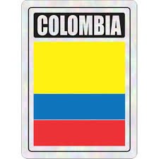 Colombia Prismatic Hologram Car Decal Sticker Flags N Gadgets