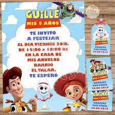 Kit Imprimible Toy Story 4 Decoracion Cumpleanos Candy Bar