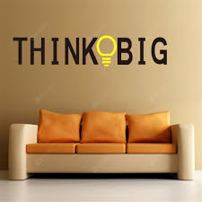Trumpet Think Big Hot Living Room Background Decorative Waterproof Wall Sticker Sale Price Reviews Gearbest