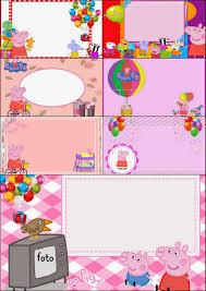 Peppa Pig Invitaciones O Marcos Para Imprimir Gratis Ideas Y