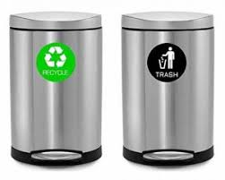 Recycle Stickers Decals Labels Magnets For Recycling Trash Cans