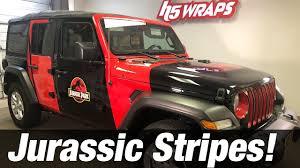 Jurassic Park Jeep Vinyl Wrap Stripes Installation Youtube