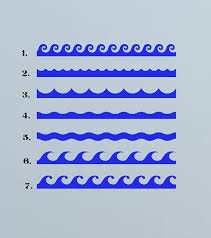 Ocean Waves Border Sea Navy Naval Decal Sticker Vinyl Wall Bathroom Pool Coastal Decor In 2020 Ocean Waves Coastal Decor Ocean Room