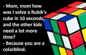 Mom, mom how was I solve a Rubik's... - Jokes of the day | Facebook
