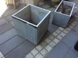 concrete planter boxes pots garden