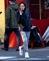 Timothée Chalamet Wears the Ultimate Shopping Outfit