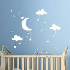 Baby Nursery Clouds Stars Wall Sticker Moon Clouds Wall Decal Kids Room Decor Easy Wall Art Children Cut Vinyl N32 Star Wall Stickers Wall Stickerwall Sticker Moon Aliexpress