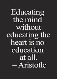 educating the mind out educating the heart is not education