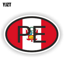 Yjzt 10 6cm 16 5cm Peru Flag Windows Car Sticker Country Code Pvc Pe Decal 6 0394 Car Stickers Aliexpress