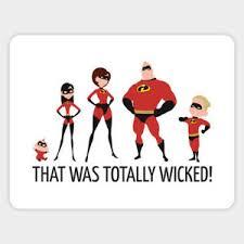 The Incredibles Cartoon Car Bumper Laptop Sticker Decal Super Family Stickers Ebay
