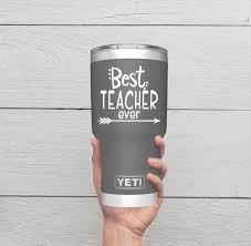 Teacher Decal Best Teacher Ever Decal Teacher Tumbler Decal Etsy