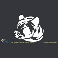 Bear Head Car Window Decal Sticker Graphic Hunting Decals