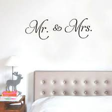 Mr And Mrs Wall Vinyl Decal Sticker Mural Quote Love Marriage Home Decor Room Ebay