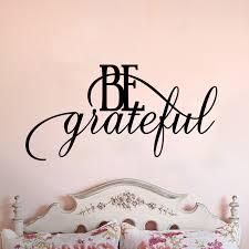 Be Grateful Script Quote Vinyl Wall Decal Cosmic Frogs Vinyl
