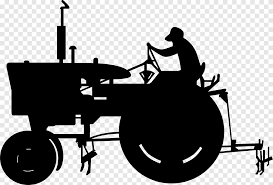 John Deere Tractor Agriculture Black And White Peach Car Monochrome Png Pngegg
