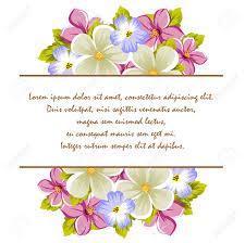 Marco De Algunas Flores Para El Diseno De Tarjetas Invitaciones