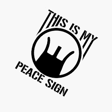 12 8cm 15 2cm This Is My Peace Sign Vinyl Decal Car Sticker Crosshairs Aim Gun Rifle Car Styling Decoration Black Sliver Gs3145 Car Stickers Aliexpress
