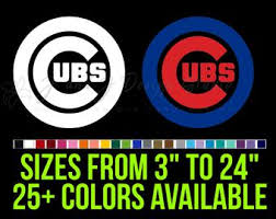 Cubs Wall Decal Etsy