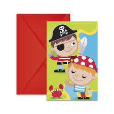 6 Invitaciones Tesoro Pirata Miles De Fiestas