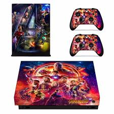 Avengers Infinity War Skin Sticker For Microsoft Xbox One X Console And 2 Controllers For Xbox One X Skins Stickers Vinyl Consoleskins Co