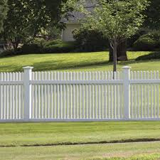 Keswick 4x8 Vinyl Picket Fence Kit Vinyl Fence Freedom Outdoor Living For Lowes